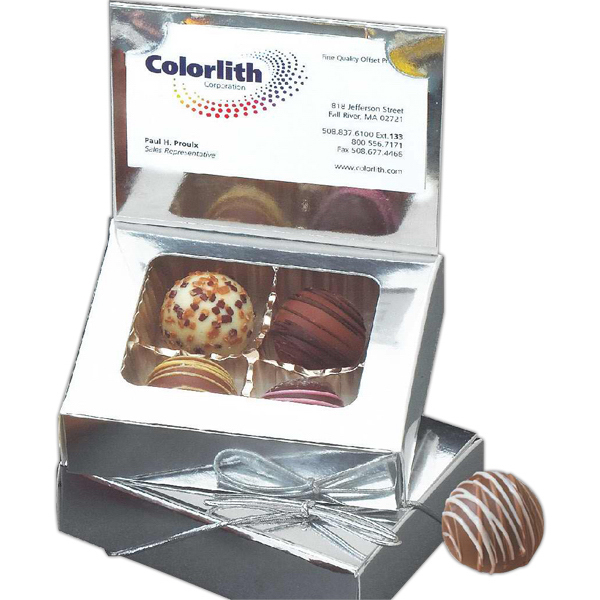 Promotional Assorted Truffles in Business Card Holder Gift Box