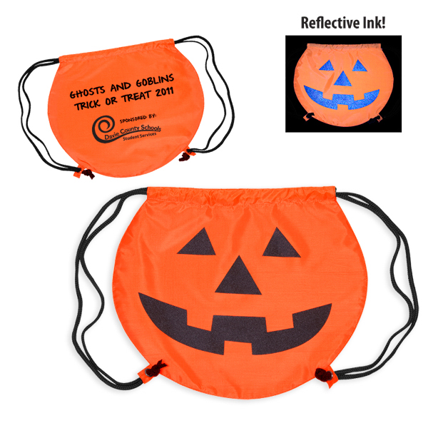 Custom PartyTime (TM) Pumpkin Drawstring Backpack
