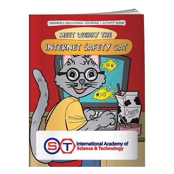 Personalized Coloring Book: Meet Webby The Internet Safety Cat