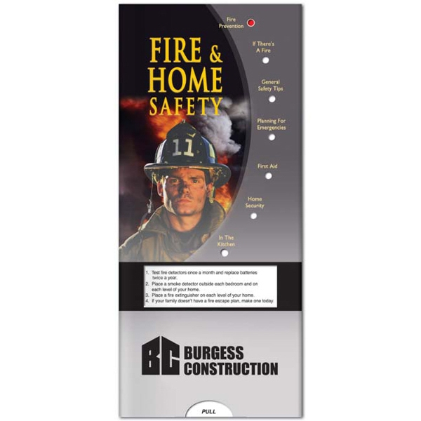 Personalized Pocket Slider: Fire & Home Safety