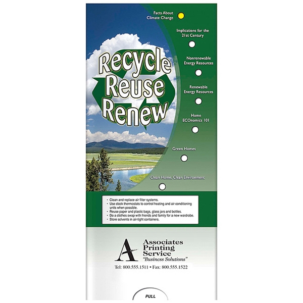 Printed Pocket Slider: Recycle, Reuse, Renew