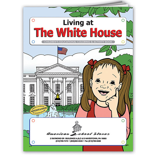 Personalized Coloring Book: Living at The White House
