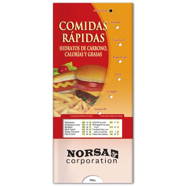 Printed Pocket Slider: Fast Foods (Spanish)