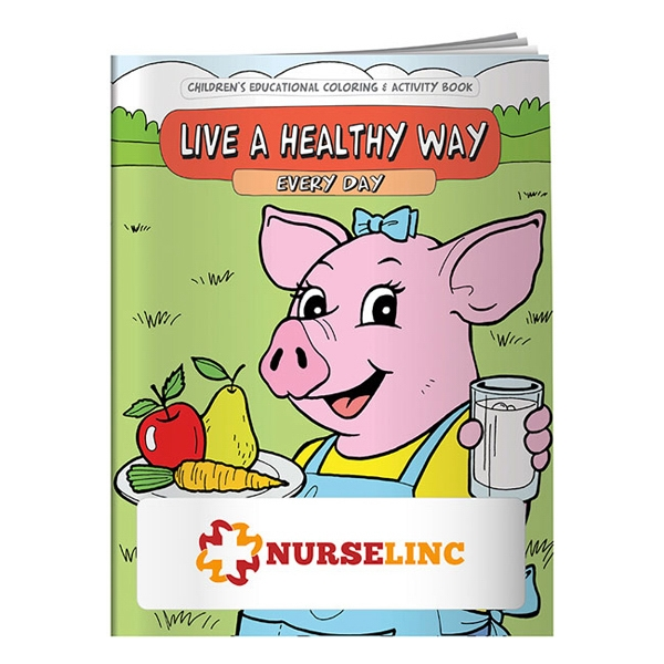 Printed Coloring Book: Live a Healthy Way Every Day