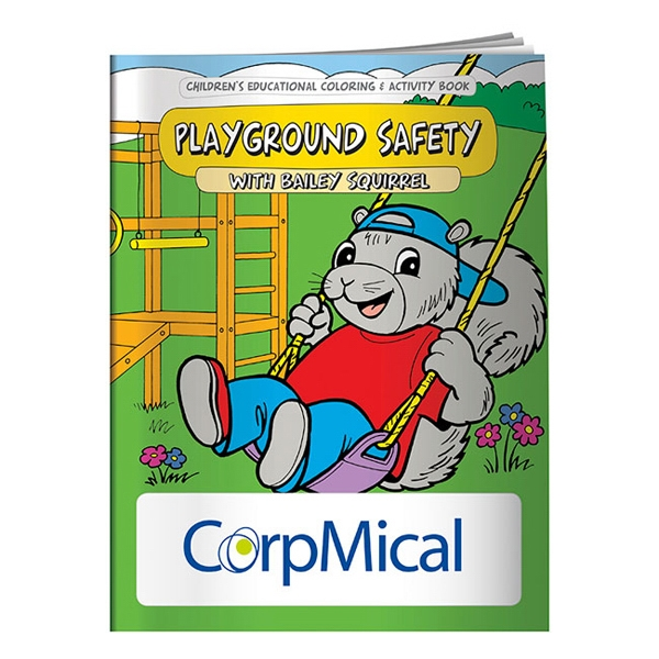 Printed Coloring Book: Playground Safety
