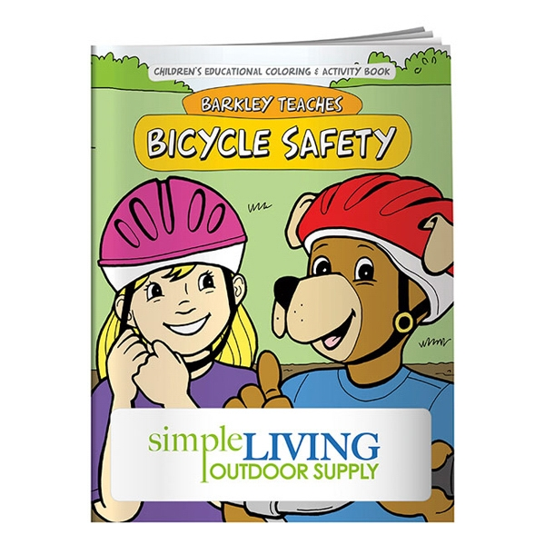 Imprinted Coloring Book: Bicycle Safety