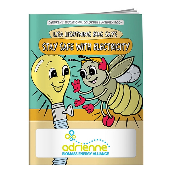 Custom Coloring Book: Stay Safe with Electricity