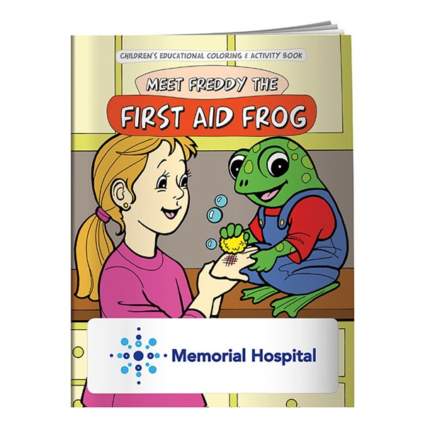 Imprinted Coloring Book: First Aid Frog