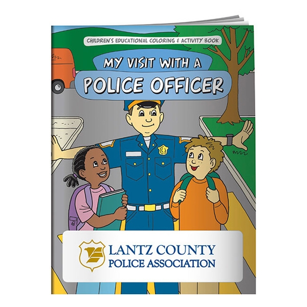 Customized Coloring Book: My Visit with a Police Officer
