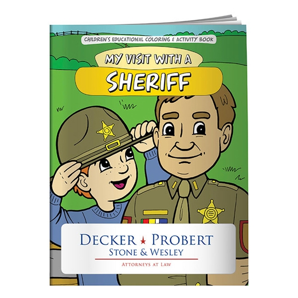 Custom Coloring Book: My Visit with a Sheriff
