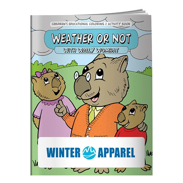 Imprinted Coloring Book: Weather or Not