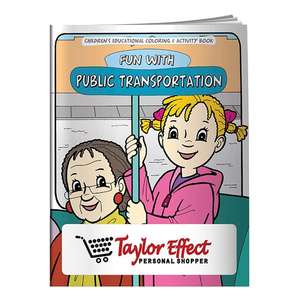 Customized Coloring Book: Adventures in Public Transportation