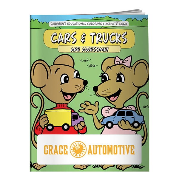 Imprinted Coloring Book: Cars & Trucks