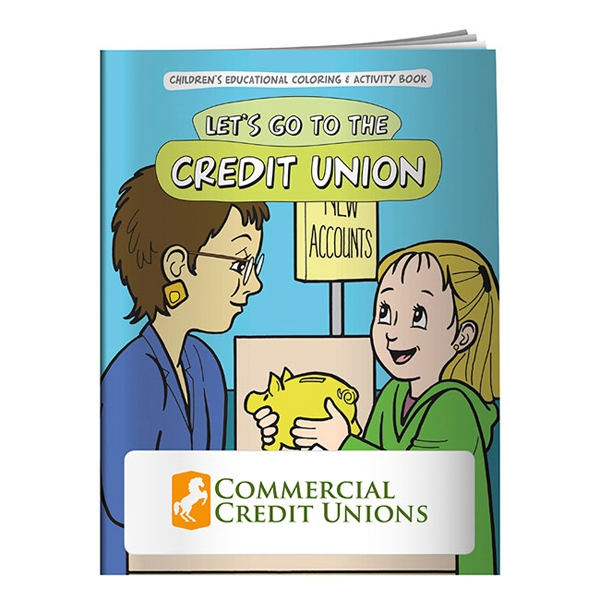 Custom Coloring Book: Let's Go to the Credit Union