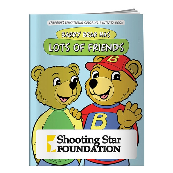 Personalized Coloring Book: Barry Bear Has Lots of Friends