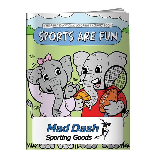 Imprinted Coloring Book: Sports are Fun