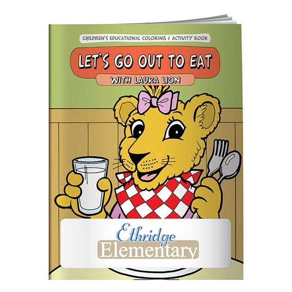Printed Coloring Book: Let's Go Out to Eat