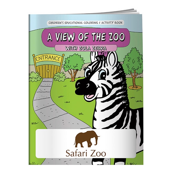 Printed Coloring Book: A View of the Zoo