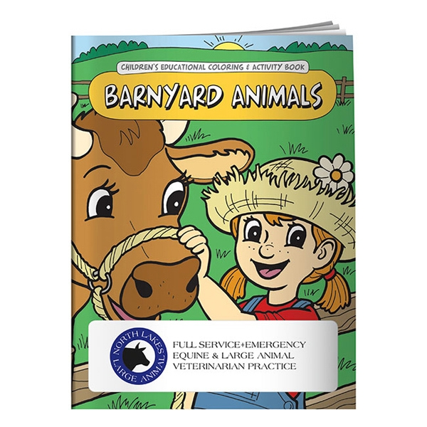 Imprinted Coloring Book: Barnyard Animals