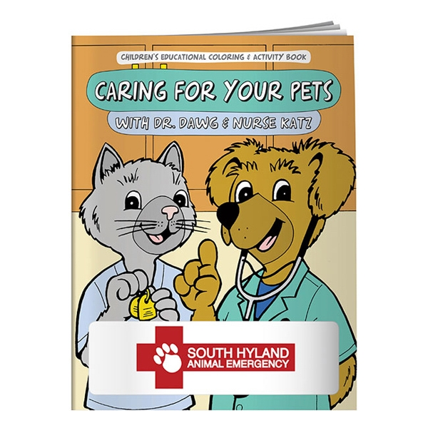 Imprinted Coloring Book: Caring for Your Pets