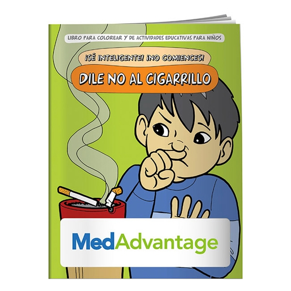 Custom Coloring Book: Say NO to Smoking (Spanish)