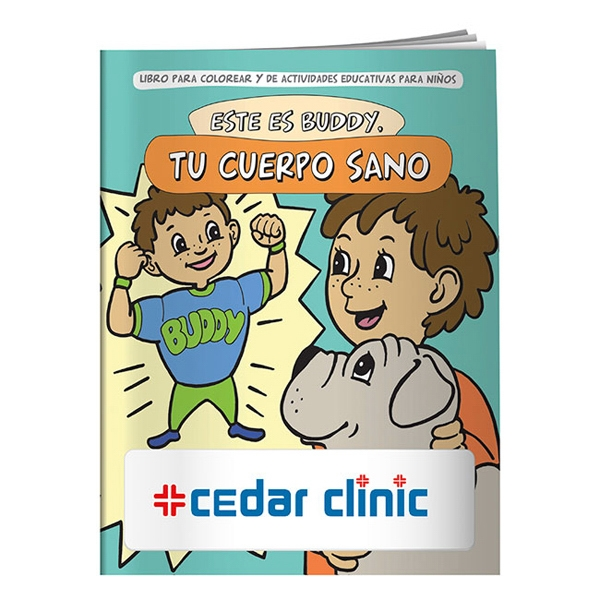 Printed Coloring Book: Buddy Your Healthy Body (Spanish)
