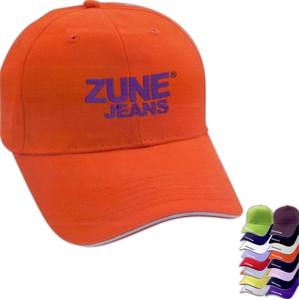 Personalized Sandwich Brushed Cotton Twill Cap