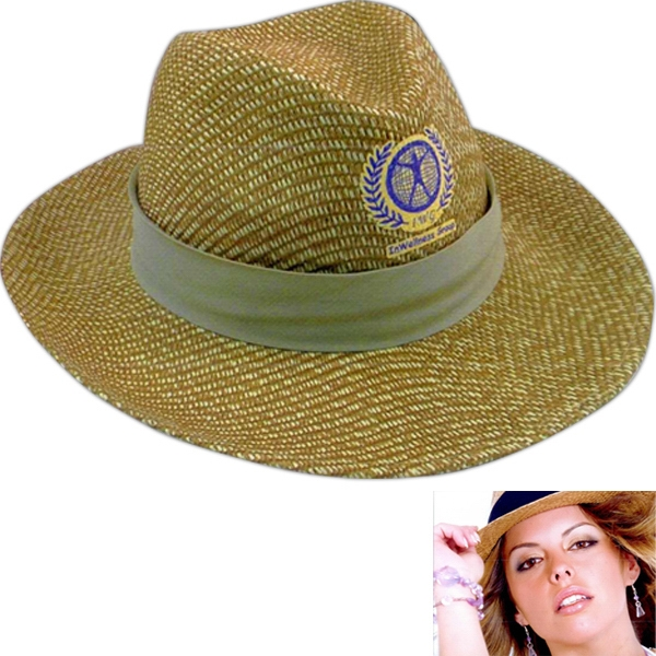 Printed Straw Hat