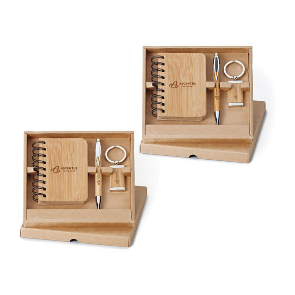 Promotional 3-piece Bamboo Gift Set