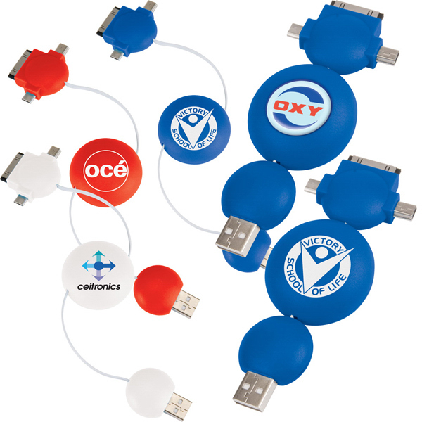 Imprinted Universal USB Bubble Adaptor