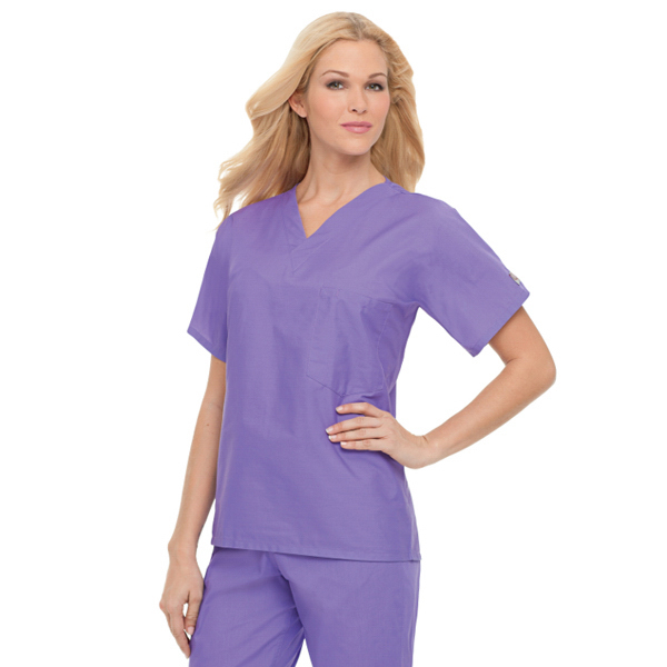 Imprinted Landau Scrub Zone Unisex Scrub Top