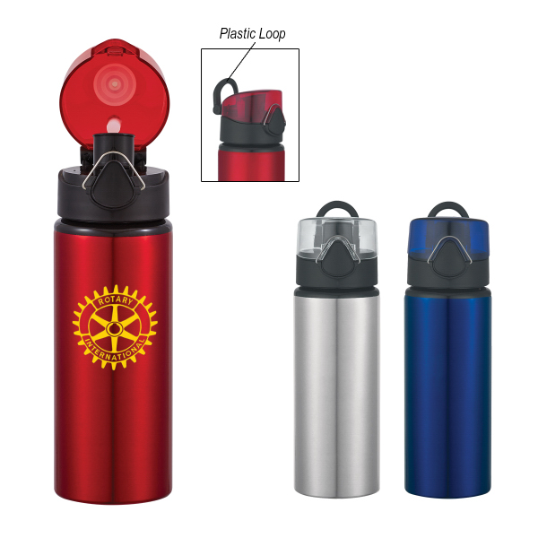 Custom 25 oz. Aluminum Sport Bottle With Flip Top Lid