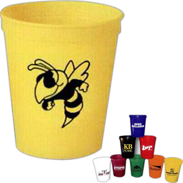 Imprinted 16 oz. plastic stadium cup