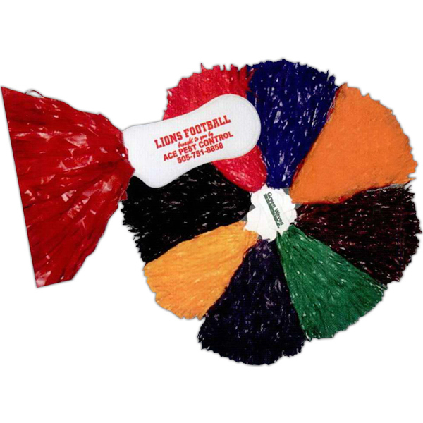 Promotional 500 streamer Pom Poms with contoured handle