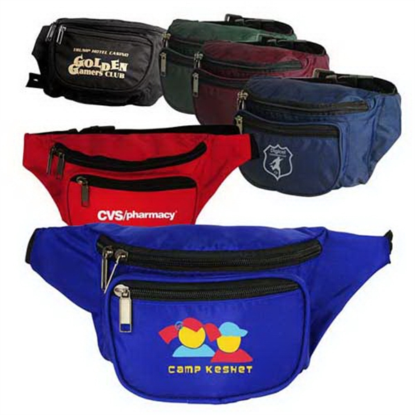 Custom 3-Zippered Fanny Pack