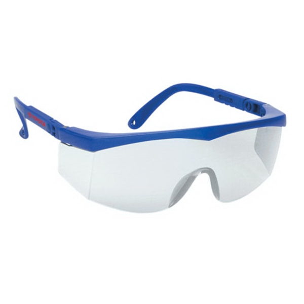 Printed Large Single-Lens Safety Glasses w/ Ratchet Temples