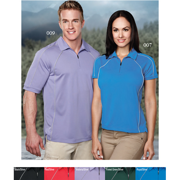 Custom Hornet - Men's Moisture Wicking Zip-Up Polo