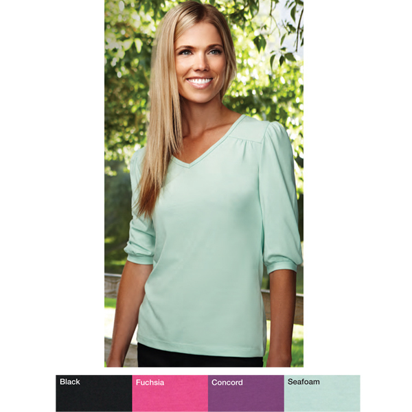 Promotional Torrance - Women's 3/4 v-neck knit shirt