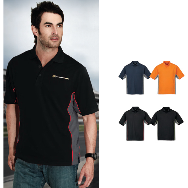 Customized GT-2 - Tri-Color Moisture Wicking Polo
