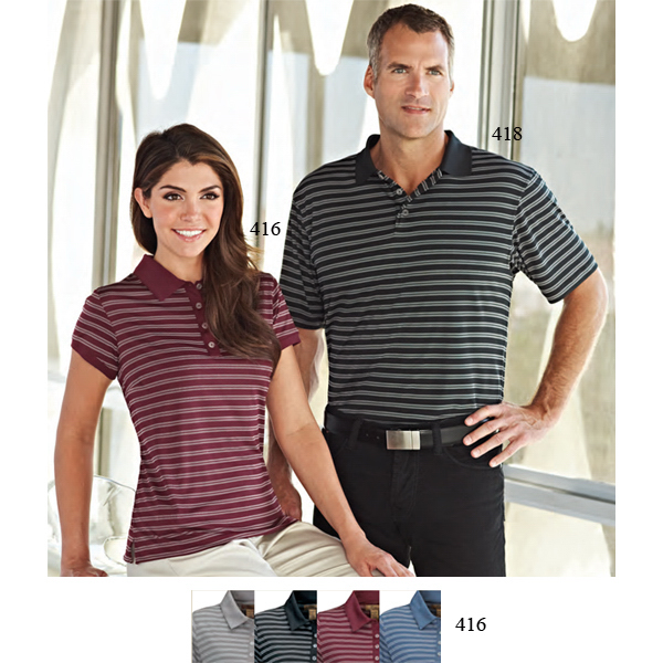 Promotional Mesa - Women's Striped Polo
