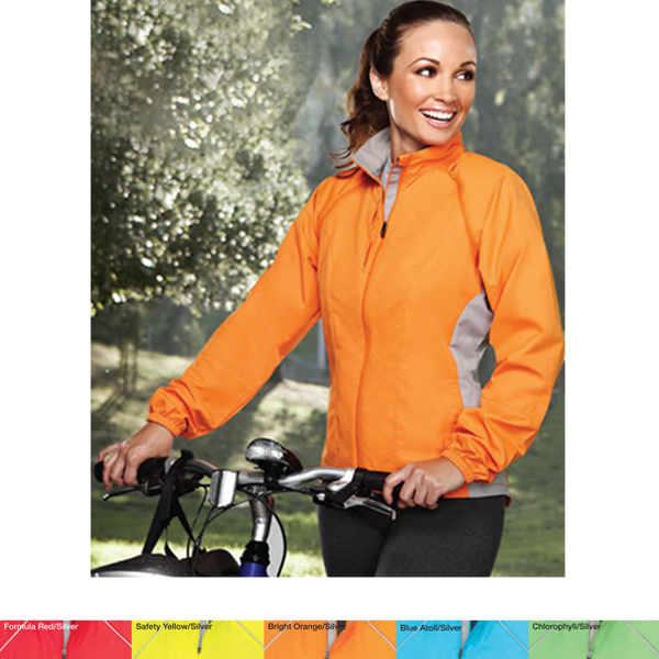 Imprinted Lady Century - Women's Convertible Cycling Jacket