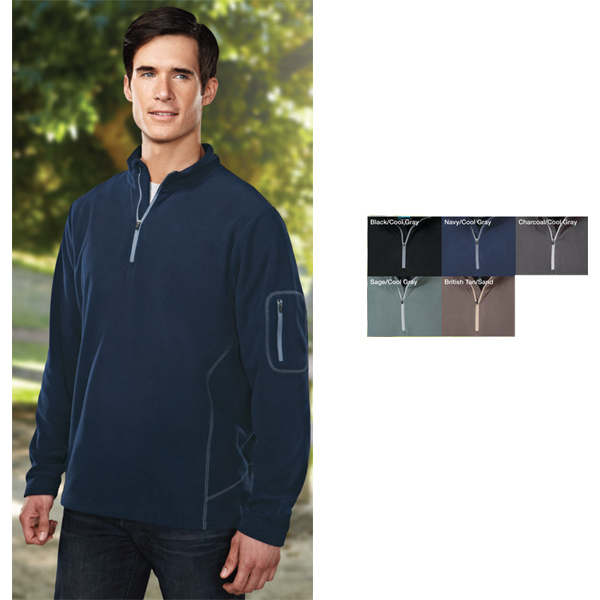 Printed Fairbanks - Men's Micro Fleece 1/4-zip Pullover