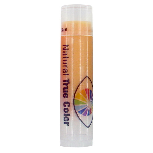 Custom SPF 15 Orange Lip Balm in Clear Tube with Orange Tint