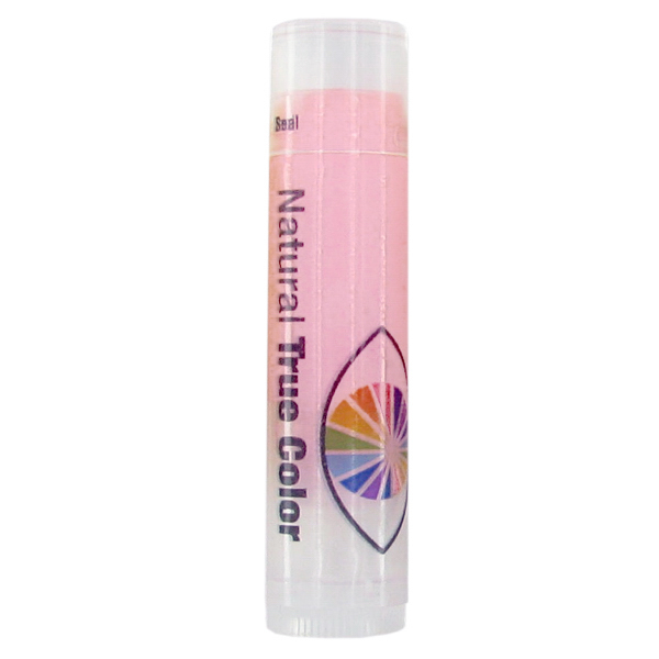 Printed SPF 15 Strawberry Lip Balm in Clear Tube with Pink Tint