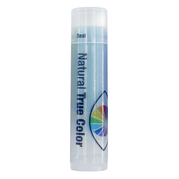 Personalized SPF 15 Berry Lip Balm in Clear Tube with Blue Tint