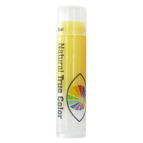 Custom SPF 15 Meyer Lemon Lip Balm in Clear Tube with Yellow Tint