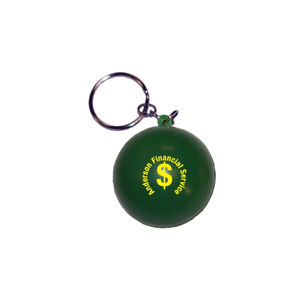 Customized ROUND STRESS BALL KEY TAG