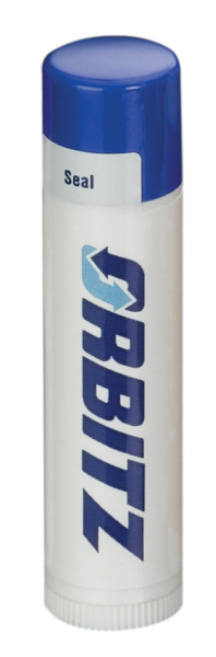 Customized SPF 15 Lip Balm in White Tube with Royal Blue Cap