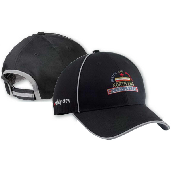 Personalized North End (R) Chino Twill Sandwich Cap With Reflective Trim