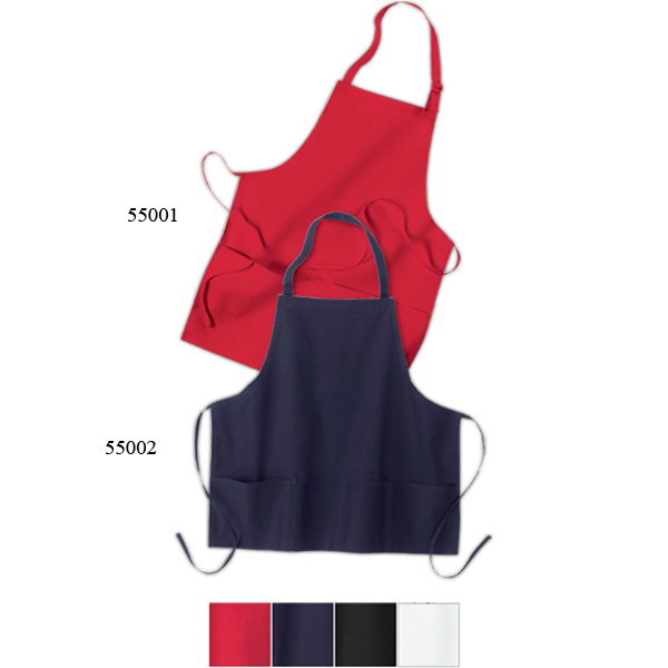 Imprinted North End (R) Adjustable Full Length Bib Apron With Pockets